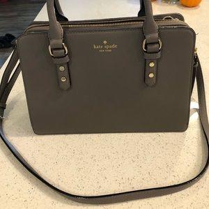 Grey Kate Spade purse